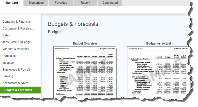 can i edit a budget in quickbooks
